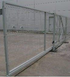 Ворота откатные заполнение сетка 3d