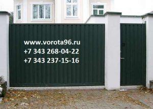 Ворота зеленый профлист